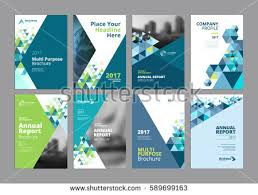 paper flyer set modern business paper design templates stock vector 589699163