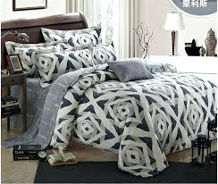 wamsutta bedding luxury geometric silver bedding set king size queen grey duvet cover designer bed in a bag sheets quilt doona bedspreads sanding bedding