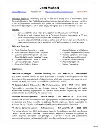 Pr Resume Examples Endearing Public Relations Resume Sample About Pr Of Examples 60a 20