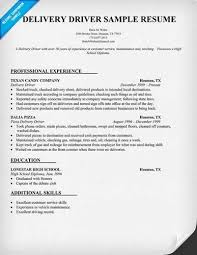 Sample Delivery Driver Resume