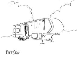 Instant Download 5th Wheel Travel Trailer Printable Coloring