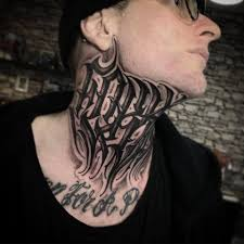 Killer Neck Script By Niorkz Meniconi Killer Ink Tattoo Facebook