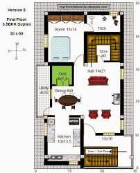 inspiring ideas 5 duplex house plans for 30x50 site east facing my little indian villa 43r36 35bhk in east on home