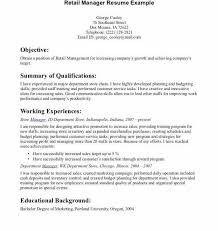 Resume Objective Examples For Retail Retail Resume Objective Examples New Retail Sales Resume Sample