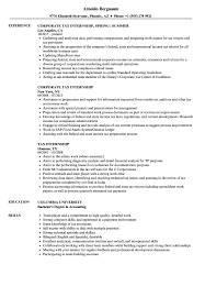 Tax Intern Resume Sample Tax Internship Resume Samples Velvet Jobs 2