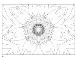 Small Picture Fractal Art Coloring Book