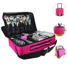 makeup bags travel large makeup case 16 5 professional makeup train case 3 layer cosmetic bag