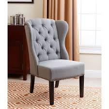 leather wingback dining chair. plain wingback abbyson sierra tufted fabric wingback dining chair with leather n