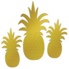 Foil Pineapple Silhouette Standup