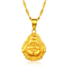 whole tatu buddha necklace female gold plated solid 24k gold jewelry sands thousands of gold content of gold alluvial gold anchor pendant necklace gold