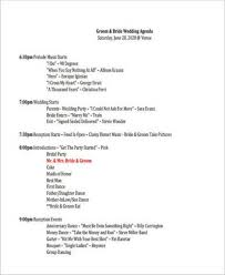 Party Agenda Templates Free 17 Party Agenda Samples And Templates Pdf