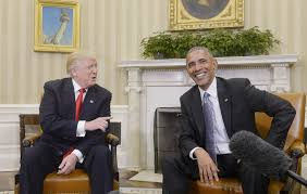 obamas oval office. U.S. President Barack Obama Meets With President-elect Donald Trump In The Oval Office Of Obamas