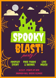 halloween sale flyer illustrated halloween party flyer templates by canva