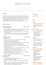 Undergraduate Researcher Resume Samples Templates Visualcv
