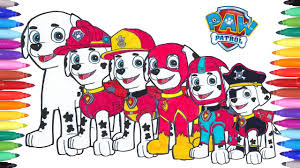 Paw Patrol Coloring Pages Marshall Switch Clothes How To Draw Paw