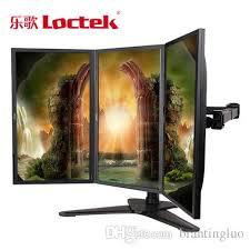 Triple Display Monitor Stand Loctek D100T Desktop Stand Triple Display Monitor Holder Full Motion 73