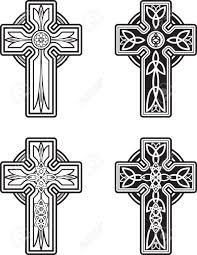 Cross Designs Stock Vector Cross Designs Celtic Black White