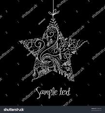 Schwarz Weiß Weihnachtsstern Illustration Stock