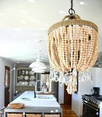 wooden bead chandelier wood with crystals diy wooden bead chandelier