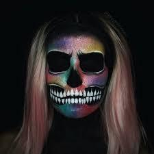 Galaxy Skull makeup #halloween #makeup #makeupartist #beauty #face #skin #