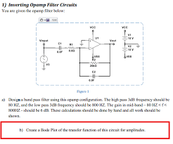 question links to answer for part a c com inverting opamp filter circuits you are given the