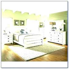 Distressed White Bed Frame Rustic Bedroom Set Furniture Look Pine ...