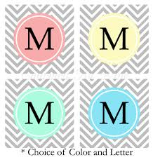 chevron initial wine charms choose initial and color