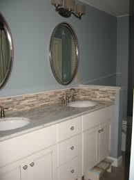 Black Real Wood Vanity With Storage Drawers White Granite - Tile backsplash in bathroom