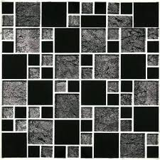 get ations a black resin glass mosaic short and long strip tiles for bathroom shower wall new era ii x glass mosaic tile in black