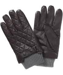 Men's Barbour Quilted Leather Gloves & Men's Barbour Quilted Leather Gloves - Dark Brown Adamdwight.com