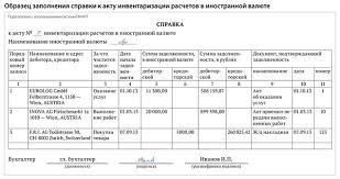 Инвентаризация расчетов с иностранными контрагентами audit it ru  также включив в данный документ графы для отражения показателей в иностранной валюте Образцы заполнения акта и справки представлены ниже