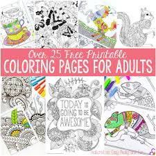 Download free printable christmas coloring pages for adults and kids! Free Coloring Pages For Adults Easy Peasy And Fun