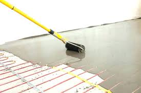 installing heated tile floor install heating under tile floor