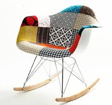 ray eames furniture. charles ray eames style rar rocking chair patchwork upholstery furniture