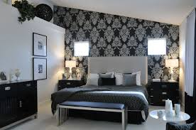 Silver And Black Bedroom Silver Wallpaper For Bedrooms