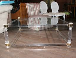 Image of: Sensational Square Lucite Coffee Table