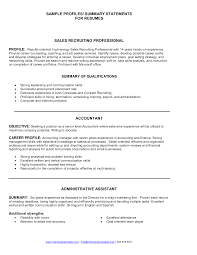 Resume Executive Summary Examples Free Resume Example And