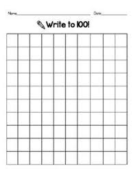 Blank 100 Number Chart Blank 100 Chart Printable Blank 100 Hundreds Chart New