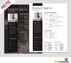 Resume Template Photoshop Free For You Simple And Clean Resume Free