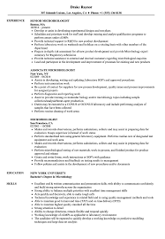 Microbiologist Resume Sample Microbiologist Resume Samples Velvet Jobs 1