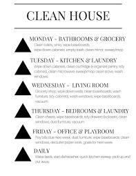 help cleaning my house weekly keep it clean list dani marie blog