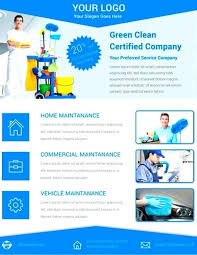 Cleaning Services Flyers Samples Free Download Service Flyer