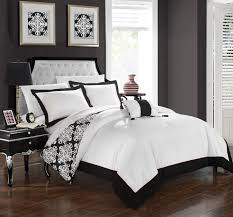 king enjoy a modern and sleek look with this black and white hotel collection duvet cover set