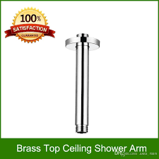 copper shower arm shower head extension chrome finish 20cm length shower arm shower head extension round shower arm with 13 12 piece on asia rain s