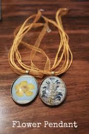 diy tutorial flower pendant necklaces
