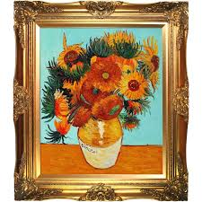sunflower collage by vincent van gogh framed painting
