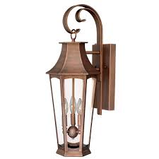 vaxcel preston brushed copper three light outdoor wall sconce hover to zoom