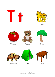 things that begin with the letter t free english worksheets alphabet reading megaworkbook