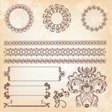 Banner Patterns Delectable Collection Of Ornate Page Decor Elements Borders Banner Dividers