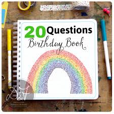 20 questions birthday interview book doris fred 20 questions birthday interview book